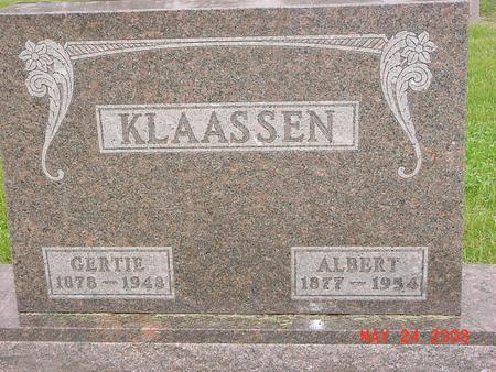 KLAASSEN, ALBERT - Lyon County, Iowa | ALBERT KLAASSEN