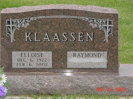 LARSON KLAASSEN, ELLOISE - Lyon County, Iowa   ELLOISE LARSON KLAASSEN