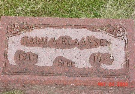 KLAASSEN, HARM A. - Lyon County, Iowa   HARM A. KLAASSEN