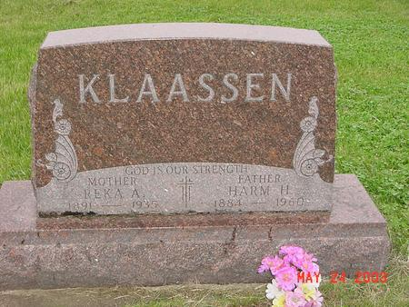 KLAASSEN, HARM H. - Lyon County, Iowa | HARM H. KLAASSEN