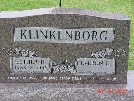 KLINKENBORG, ESTHER - Lyon County, Iowa | ESTHER KLINKENBORG
