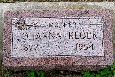 KLOEK, JOHANNA - Lyon County, Iowa | JOHANNA KLOEK