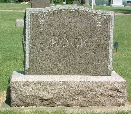 KOCK, HEADSTONE - Lyon County, Iowa | HEADSTONE KOCK