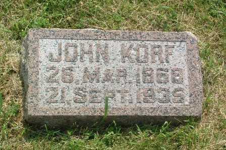 KORF, JOHN - Lyon County, Iowa | JOHN KORF
