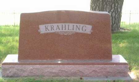 KRAHLING, HEADSTONE - Lyon County, Iowa | HEADSTONE KRAHLING