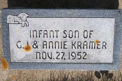 KRAMER, INF SON OF C.J.& ANNIE - Lyon County, Iowa | INF SON OF C.J.& ANNIE KRAMER