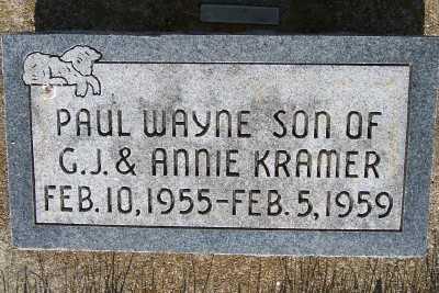 KRAMER, PAUL WAYNE - Lyon County, Iowa | PAUL WAYNE KRAMER