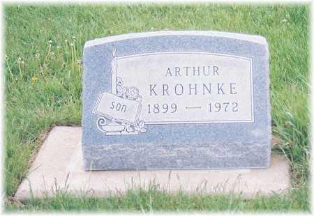 KROHNKE, ARTHUR - Lyon County, Iowa   ARTHUR KROHNKE