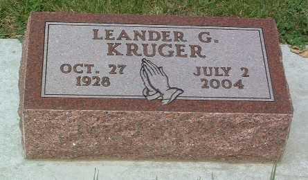 KRUGER, LEANDER G. - Lyon County, Iowa   LEANDER G. KRUGER