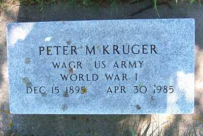 KRUGER, PETER M. - Lyon County, Iowa | PETER M. KRUGER
