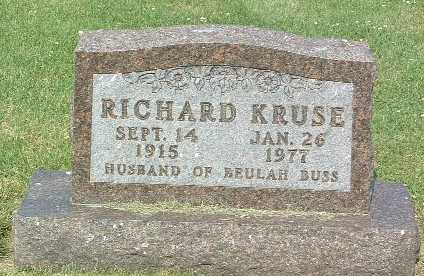 KRUSE, RICHARD - Lyon County, Iowa | RICHARD KRUSE
