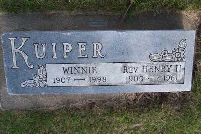KUIPER, HENRY H. REV. - Lyon County, Iowa   HENRY H. REV. KUIPER