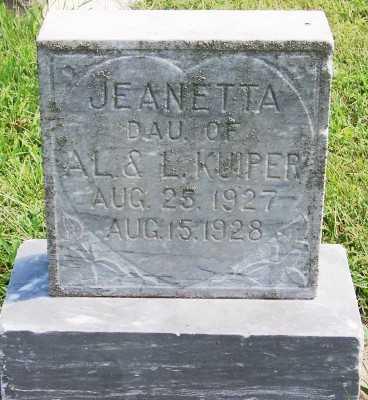 KUIPER, JEANETTA (DAU OF A.L.& L.) - Lyon County, Iowa | JEANETTA (DAU OF A.L.& L.) KUIPER