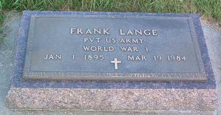 LANGE, FRANK - Lyon County, Iowa | FRANK LANGE