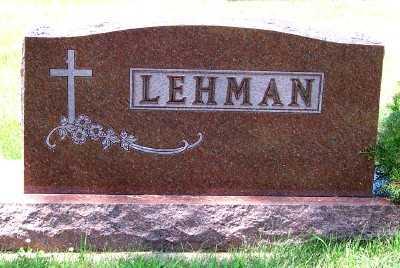 LEHMAN, FAMILY HEADSTONE - Lyon County, Iowa   FAMILY HEADSTONE LEHMAN