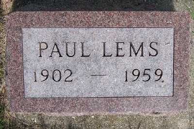 LEMS, PAUL - Lyon County, Iowa | PAUL LEMS