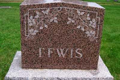 LEWIS, FAMILY HEADSTONE - Lyon County, Iowa | FAMILY HEADSTONE LEWIS