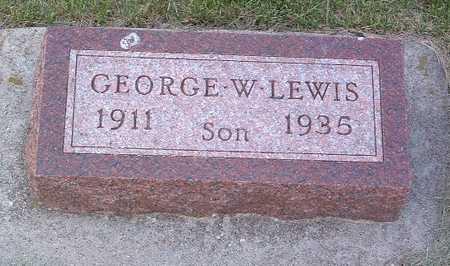 LEWIS, GEORGE W. - Lyon County, Iowa | GEORGE W. LEWIS