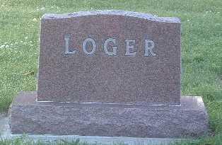 LOGER, FAMILY HEADSTONE - Lyon County, Iowa   FAMILY HEADSTONE LOGER