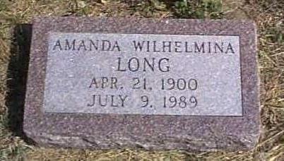 LONG, AMANDA WILHELMINA - Lyon County, Iowa | AMANDA WILHELMINA LONG