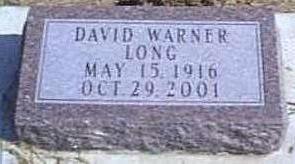 LONG, DAVID WARNER - Lyon County, Iowa   DAVID WARNER LONG