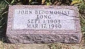 LONG, JOHN BLOOMQUIST - Lyon County, Iowa | JOHN BLOOMQUIST LONG