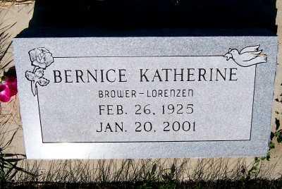 BROWER LORENZEN, BERNICE KATHERINE - Lyon County, Iowa | BERNICE KATHERINE BROWER LORENZEN