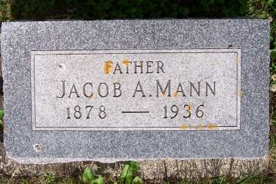 MANN, JACOB A. - Lyon County, Iowa | JACOB A. MANN