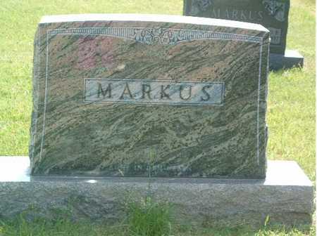 MARKUS, HEADSTONE - Lyon County, Iowa | HEADSTONE MARKUS