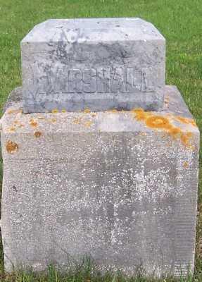 MARSHALL, HEADSTONE (TOP BROKEN) - Lyon County, Iowa | HEADSTONE (TOP BROKEN) MARSHALL