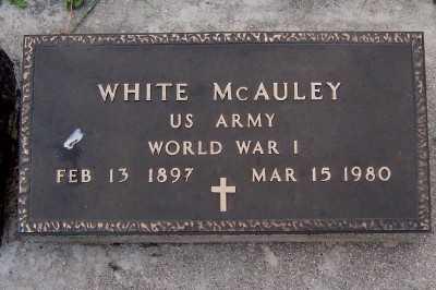 MCAULEY, WHITE - Lyon County, Iowa   WHITE MCAULEY