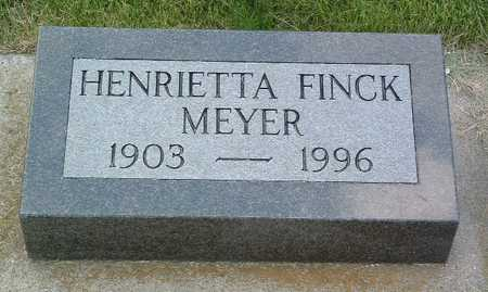 FINCK MEYER, HENRIETTA - Lyon County, Iowa | HENRIETTA FINCK MEYER