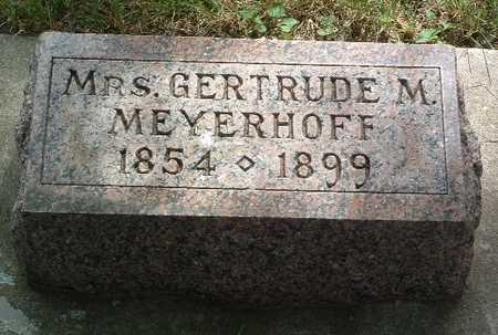 MEYERHOFF, GERTRUDE M. - Lyon County, Iowa | GERTRUDE M. MEYERHOFF