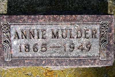 MULDER, ANNIE - Lyon County, Iowa   ANNIE MULDER