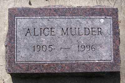 MULDER, ALICE - Lyon County, Iowa   ALICE MULDER