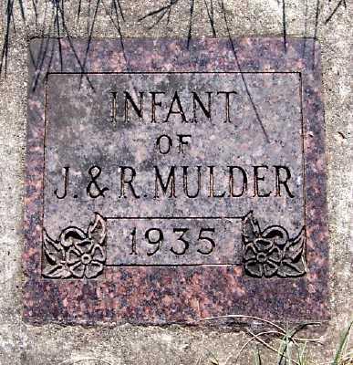 MULDER, INFANT OF J.& R. - Lyon County, Iowa | INFANT OF J.& R. MULDER