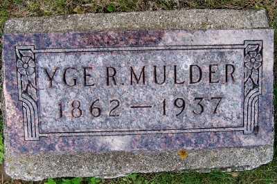 MULDER, YGE R. - Lyon County, Iowa   YGE R. MULDER