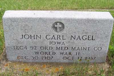 NAGEL, JOHN CARL - Lyon County, Iowa | JOHN CARL NAGEL