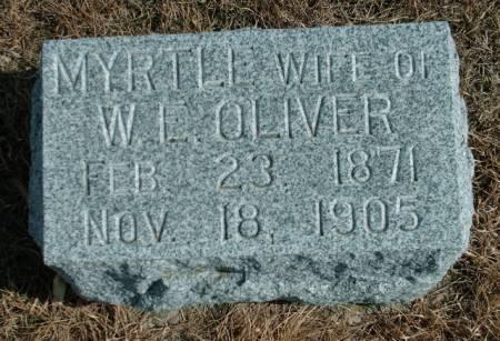 LYON OLIVER, MYRTLE - Lyon County, Iowa   MYRTLE LYON OLIVER