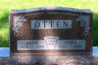 OTTEN, CORA - Lyon County, Iowa | CORA OTTEN