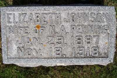 JOHNSON PENNING, ELIZABETH (MRS. N.A.) - Lyon County, Iowa | ELIZABETH (MRS. N.A.) JOHNSON PENNING
