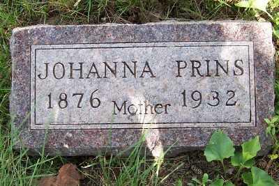 PRINS, JOHANNA - Lyon County, Iowa   JOHANNA PRINS
