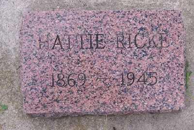 RICKE, HATTIE - Lyon County, Iowa | HATTIE RICKE