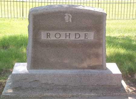 ROHDE, HEADSTONE - Lyon County, Iowa | HEADSTONE ROHDE