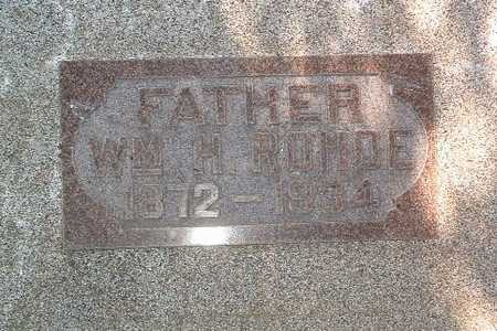 ROHDE, WM. H. - Lyon County, Iowa | WM. H. ROHDE