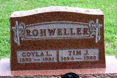 ROHWELLER, COYLA L. - Lyon County, Iowa   COYLA L. ROHWELLER