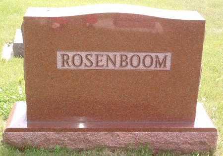 ROSENBOOM, HEADSTONE - Lyon County, Iowa   HEADSTONE ROSENBOOM