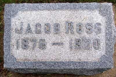 ROSS, JACOB (1876-1920) - Lyon County, Iowa | JACOB (1876-1920) ROSS