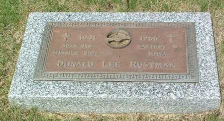 RUSTMAN, DONALD LEE - Lyon County, Iowa | DONALD LEE RUSTMAN