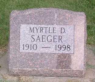 SAEGER, MYRTLE D. - Lyon County, Iowa | MYRTLE D. SAEGER